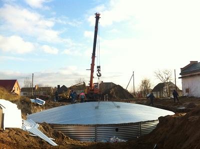 Резервуар для питьевой воды, Волынская область монтаж