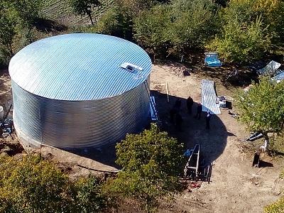 Резервуар для питьевой воды, Хмельницкая область вид сверху