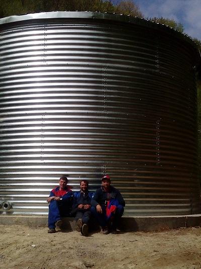 Резервуар для питьевой воды, Закарпатская область окончание работы
