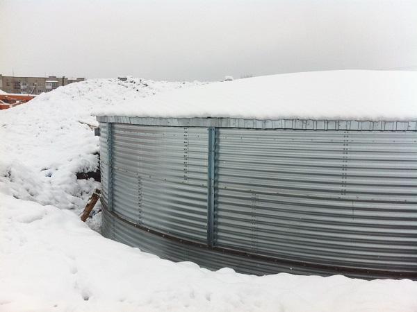 Монтаж резервуара для питьевой воды в г. Ковель