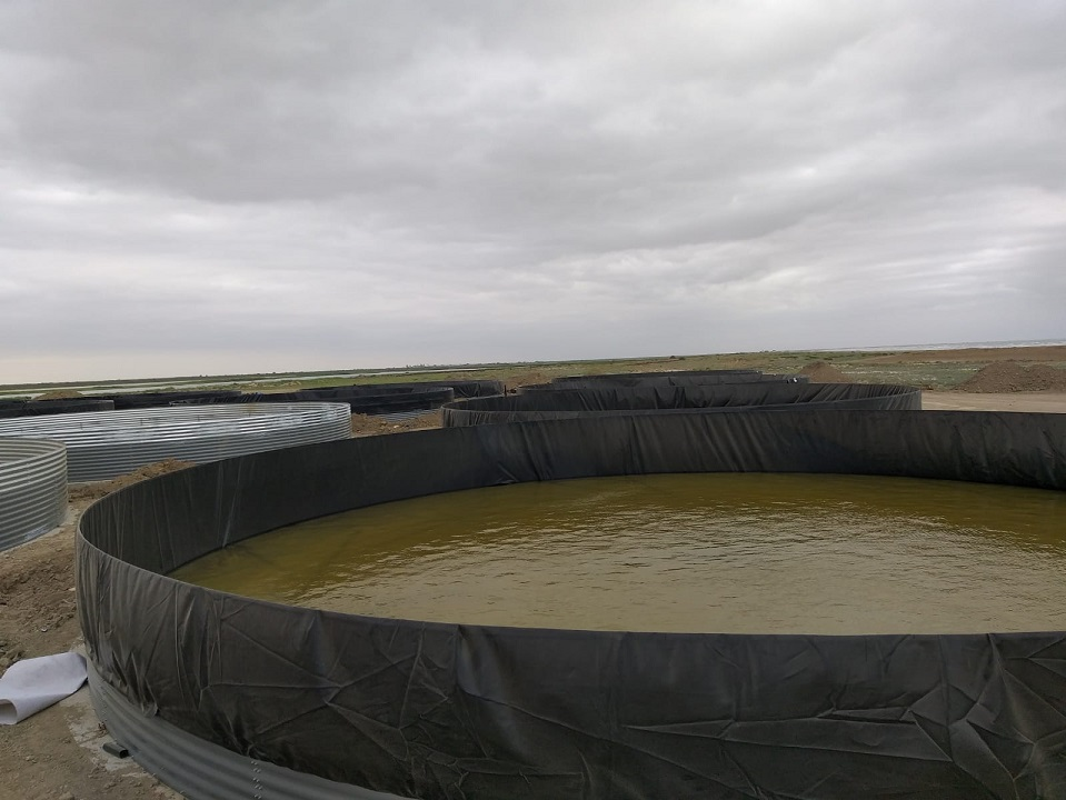Tanks for cultivation of fish, crayfish
